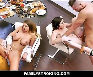Hot MILF Step Mom Brooklyn Chase And Step Son Join Teen Step Daughter Rosalyn Sphinx And Step Dad For Family..