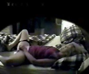 Hidden cam caught my mum masturbating on bed - 39 sec