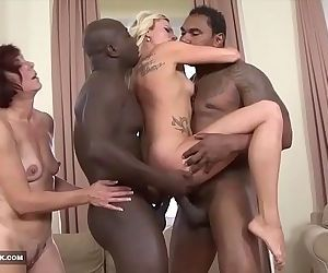 Black Monster cocks for beautiful milfs get fucked anal and pussy cumshotHD