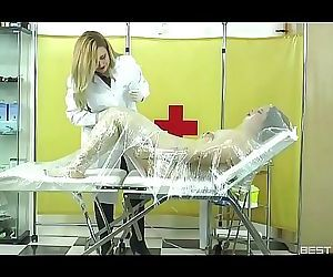 Medical momificationSubtitled. Mistress Noor and Lady Gore Flogguer 4 min HD+