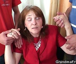 Meeting in the office ends up 3some fucking - 6 min HD
