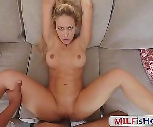 Sexy Stepmom Blackmailed Into One More FuckCherie Deville 8 min HD