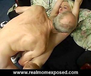 Sexy blonde milf Louise homemade banging