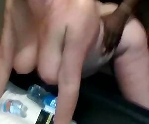 Hot wife taking a BBC for Husband