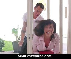 FamilyStrokesMILF Stuck & Fucked By Both StepsonsHD