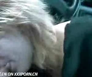 Blonde milf in the car