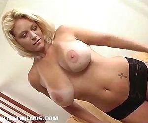 Hot chick Charlie fucking a brutal dildo