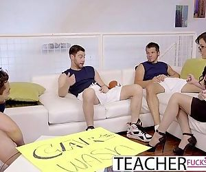 Hot Teacher Jennifer White DP Fuck With Students - 9 min HD