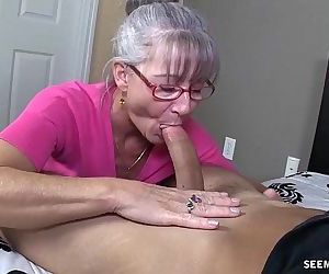 Horny Granny Sucks A Young Dick - 4 min HD