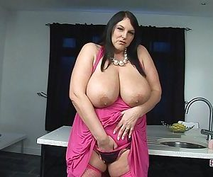 Carol Brown Melons Play & Dildo Fuck - 6 min