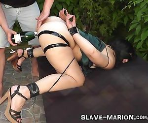 Real sex slave bondaged, punished and gangbanged