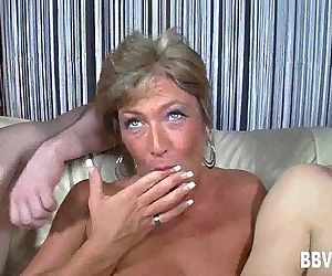 Short haired german milf gets double fuckedHD