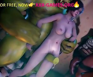 Hard fucking with giant green troll! Amazing 3d porn game!