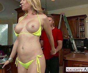 Sexy busty mom Desi Dalton gets pussy nailed - 8 min HD