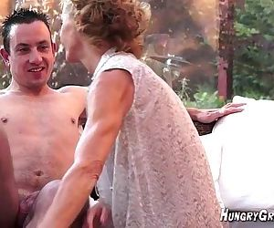 70 yr old horny ass granny with young 22 yr old guy HOT - 9 min