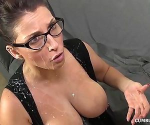 Huge-titted Milf Gets Splattered By A Young Man - 4 min HD