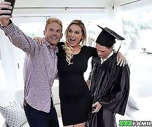 Blonde Busty Mom Fucks Her Graduated Stepson 8 min 720p