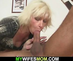 Cheating sex with hot blonde mother-in-law