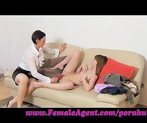 FemaleAgent. Sticky fingers slick with sex