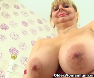 English milf Alexa takes care of her lady bits