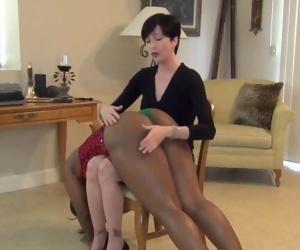 Big butt ebony spanked