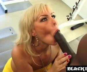 Stellar Tara Lynn Foxx eats cum after interracial cuckold