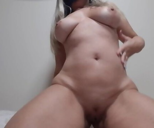 Showing off in Bed and Showing Pussy Close up