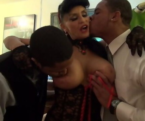 Granny goes Black-ty Mouth White GILF Takes 3-way BBC Fuck of her Life