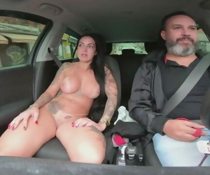 Elisa Sanches on Teds Ride Gets Naked in Public on the Street