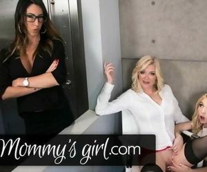 MommysGirl Stepmom 3Ways with her MILF Boss & Step Daughter!