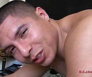 Big dick Latino fucking his straight bottoms asshole