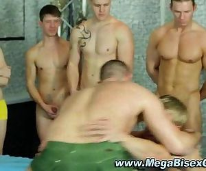 Bi guys hardcore group suck orgy