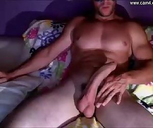 masked stud with a huge cock