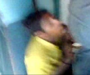 Desi Indian sucking drinking cum in train