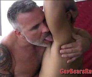Big hairy bear dicks in action