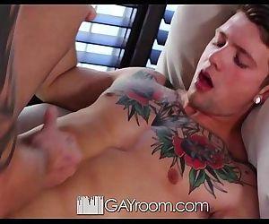 GayRoomSebastian Kross Fucks Casey Everett in his First SceneHD
