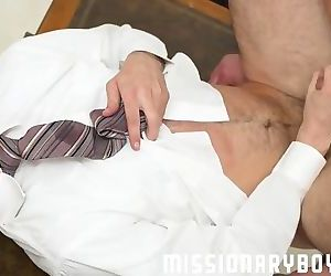 Mormonboyz - Bare huge dick for cute Mormon boy's first time anal