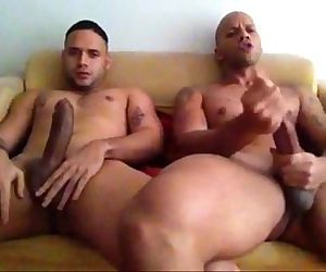 str8 friends jerking together watching porn