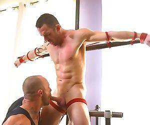 Muscular Straight Boy Edged
