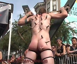 Street Fair Orgy Gets Dirty