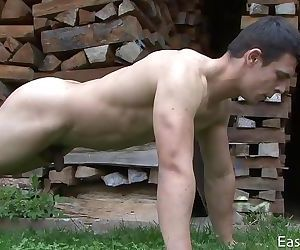 Spring Workout and Jerking Off