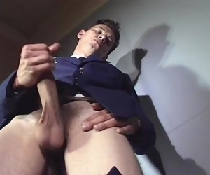 Russian Soldier with BIG cock masturbates