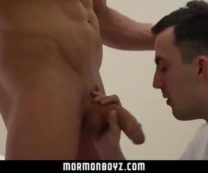 MormonBoyz- Boy takes a huge cock bareback in a secret Mormon ritual