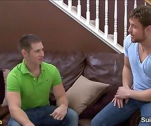 Shameless married guy Nash Lawler gives blowjob and gets ass fucked