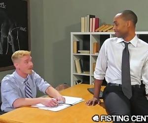 FistingCentral Interracial College Teachers Fuck & Fist In Class