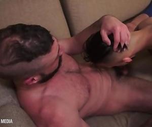 Marco Napoli facefucks tatted cock whore Dante