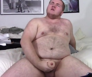 Chubby Hairy College Cub Boy Shooting Sticky Load