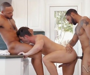 NoirMale 2 HUNG Plumbers Double-Anal Devins Ass to Unclog His Pipes ;-