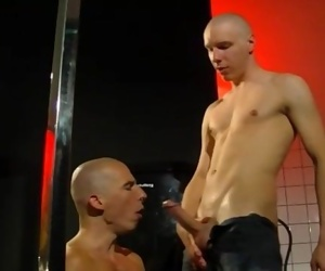 Skinhead pair shave, piss, fuck and suck