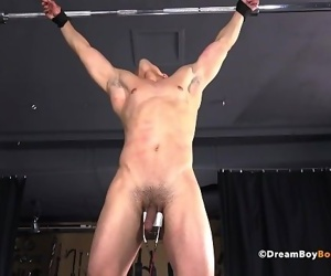 Muscle Stud Sex Criminal Crucified and Gut Punched BDSM Gay Bondage Porn